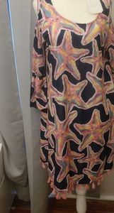 Starfish print tassel bottom simply Southern dress